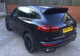 Porsche Cayenne customised with full dechrome