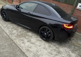 BMW 220 rear window tints