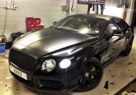 Bentley being worked on at Khaz Customs