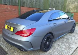 Matte Anthracite Grey Mercedes CLA