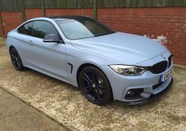 Satin battleship grey BMW 4 Grand Coupe