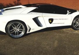 Branding on Lamborghini at Khaz Customs