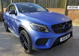 Mercedes GLE wrapped Matte Blue