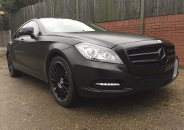 Merc Benz CLS Satin Black