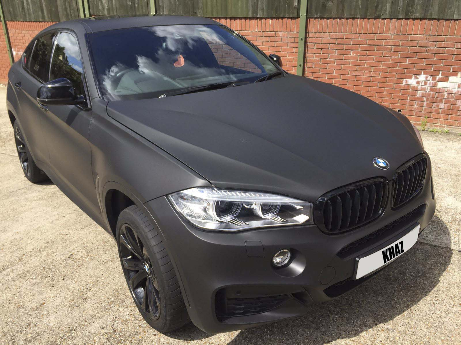 X6 BMW Wrapped Matte Black