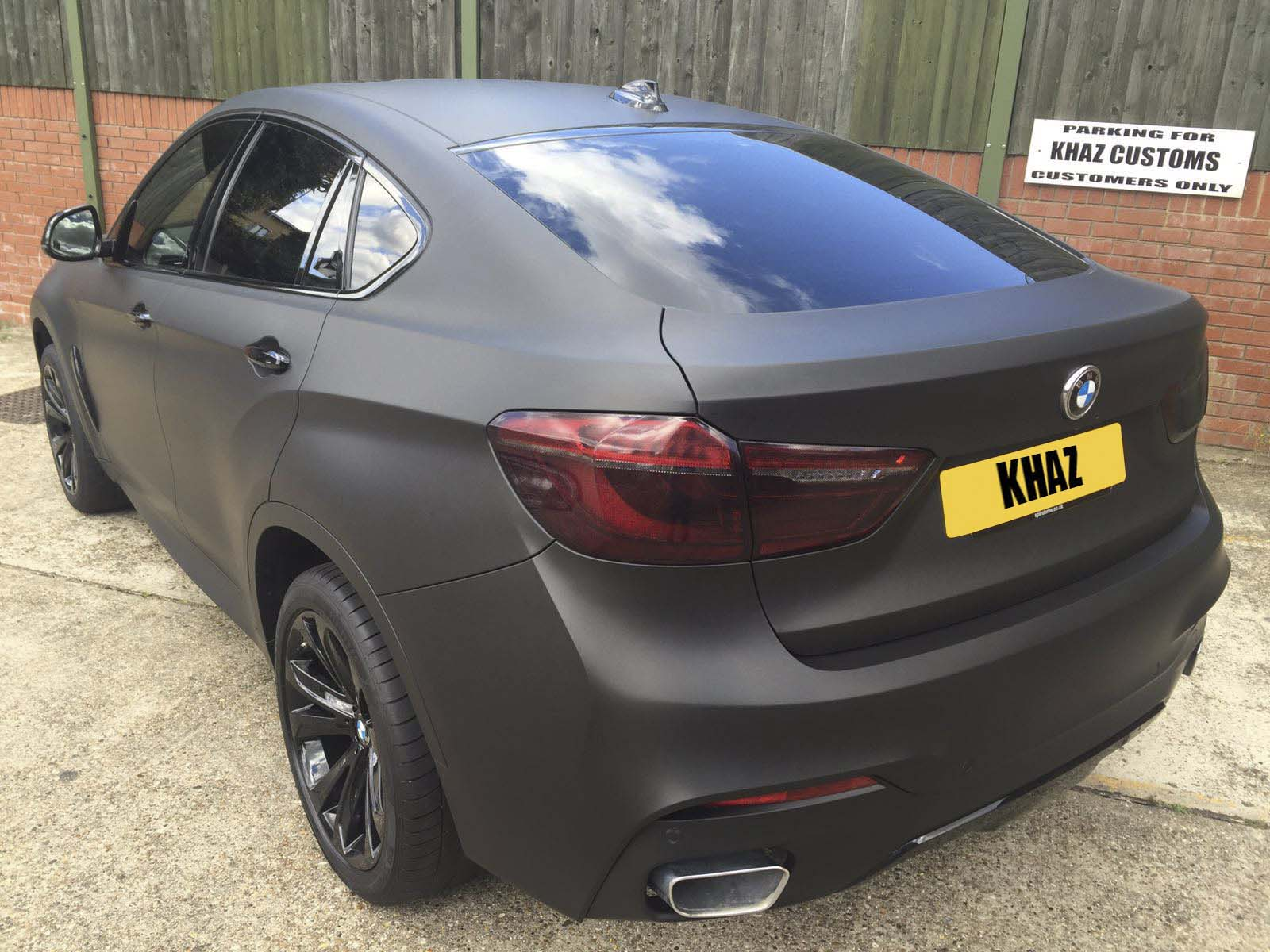 BMW X6 Wrapped Matte Black