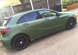 Mercedes A Class wrapped Military Green