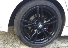 BMW Powder coated wheels black