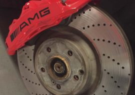 AMG brake calipers painted red