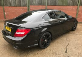 Mercedes C Coupe Wrapped Metallic Black