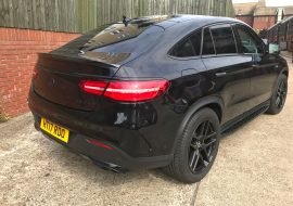 Mercedes GLE AMG full dechrome at Khaz Customs