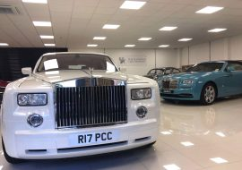 Rolls Royce wrapped in pearl white