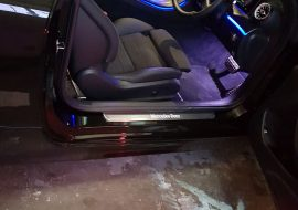 Mercedes Benz E Coupe customised puddle lights