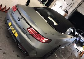 E63 AMG wrapped Matte Anthracite