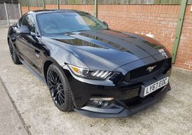 Ford Mustang with stripes and tints fitted by Khaz Customs
