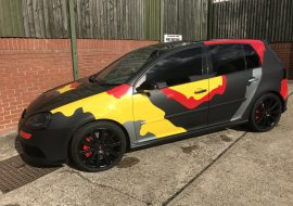 Golf R32 custom camo wrap