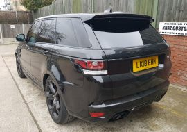 RR SVR window tints completed by Khaz Customs