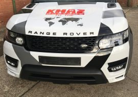 Range Rover Sport wrapped with a custom Camo kit by Khaz customs