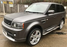 Range rover sport wrapped in Satin Grey