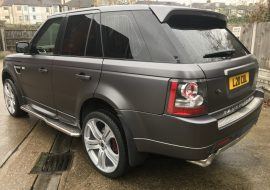 Range Rover Sport wrapped satin grey